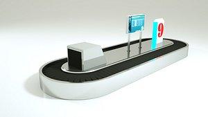 3D airport baggage air model