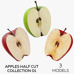 3D Apples Half Cut Collection 01 - 3