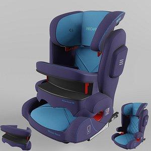 Recaro Monza Nova IS Children Car Seat Core Xenon Blue 3D