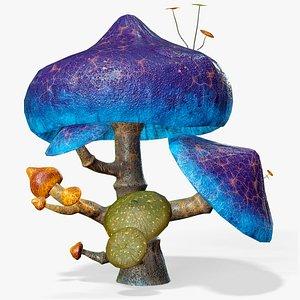 Fantasy Mushroom Fungus Lowpoly PBR 3D model