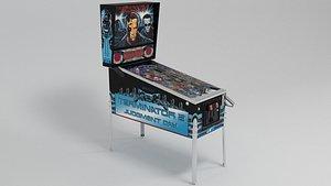 3D terminator pinball machine model