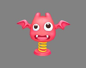 scary toy spring 3D model