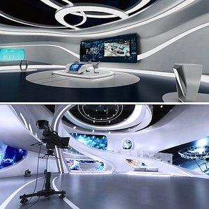 3D model futuristic sci-fi tv studio