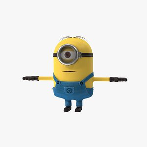 3D minion stuart cartoon animation