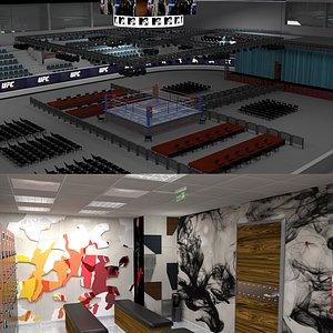 Boxing Stadium and Locker Room 3D