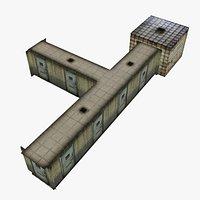 Low Poly Insane Asylum Corridor With PBR Materials