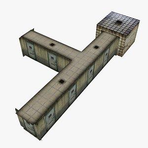 3D asylum corridor pbr materials model