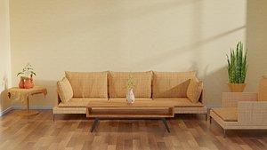 3D interior minimalist model