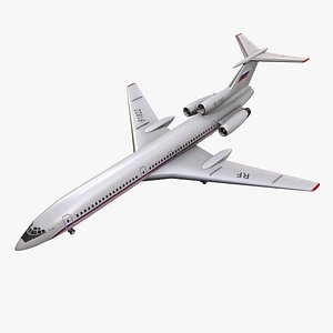 Tupolev Tu-154 Russia With LODs 3D model