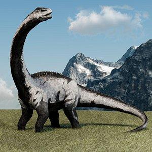 Brontosaurus Rigged model