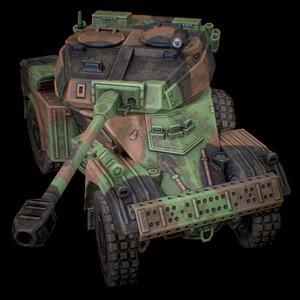 3D PANHARD AML-90 FRANCE CAMO