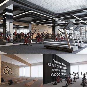 3D club interior fitness model