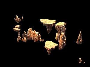 3D ground landscape mountain model