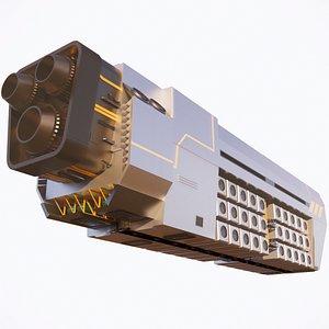 Sci-fi Airship 002 model