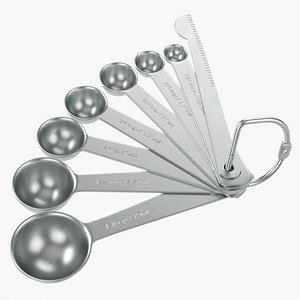 Measuring spoons 8-set 3D model