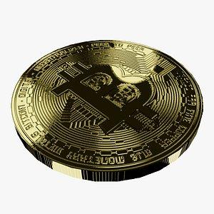 btc bitcoin 3D model