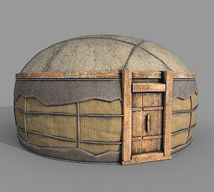 Old Mongolian Yurt House model