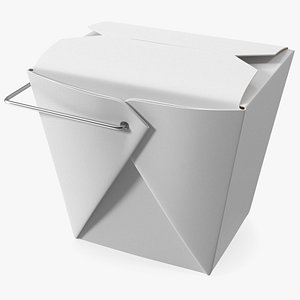 3D Paper Take Out Food Container 16 Oz