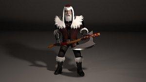 3D santa character