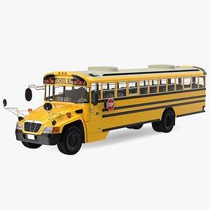 Blue Bird Vision School Bus Rigged 3D model