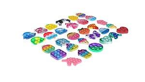 Mini Pop It Fidget Toys Set 3D model