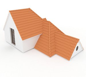 Realistic Roof Shingles 7 3D
