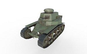 3D t-18 soviet tank model