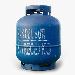 gas cylinder gameready lods 3D model