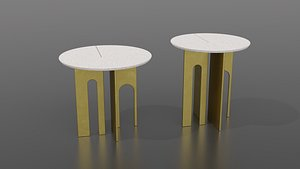 3D Arche Round Side Table by Paolo Castelli model