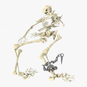 prisoner skeleton shackle 3D model