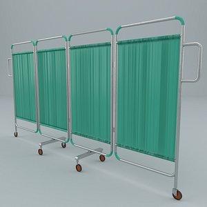 hospital curtain 3D model