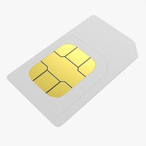 card mobile sim 3D model