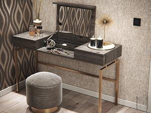 3D make up desk