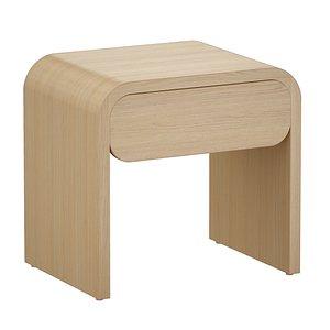 bedside table nightstand floats 3D model