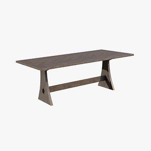 Brinley Fixed Dining Table Acacia wood