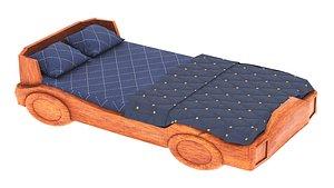 3D model bed pbr corona