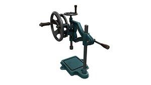 3D model Old Drill Machine