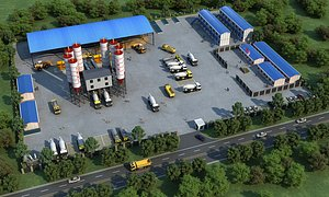 3D Industrial Plant Area Factory Warehouse Integrated Plant Refinery Plant Industrial Zone Chemical Pla model