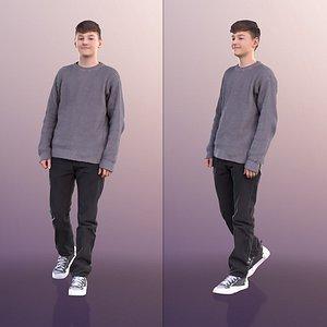 boy teen casual 3D