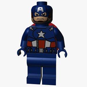 3D Lego Captain America model