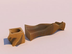 parametric bench - 3D