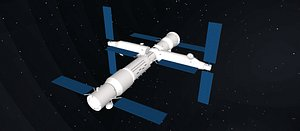 TIangong space station 3D