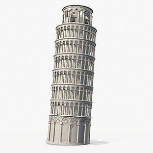 Pisa Tower PBR 3D model