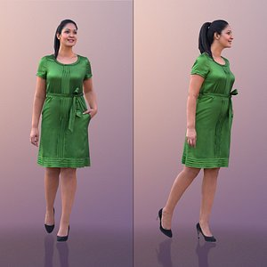 3D model woman walking classy