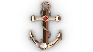 jewelry stones anchor 3D model