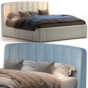Bed Zaffiro 200 Galimberti Nino 3D model