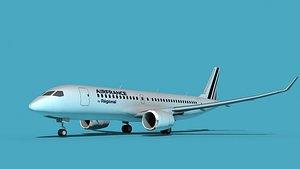 3D Bombardier CS100 Air France Regional model