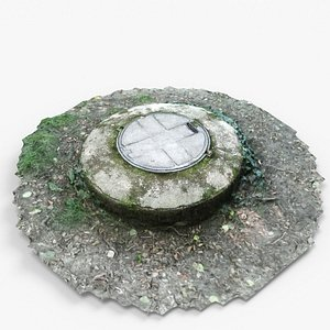3D model Manhole cover forest