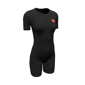 women suit swimming 3D model