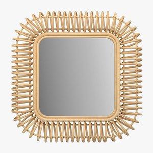 3D model Square mirror Tarsile La Redoute